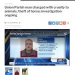Union Parish Sheriff's Office, LA: Hal Parker Arrested